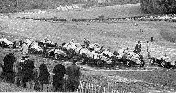 Grila de start Brands Hatch - septembrie 1950