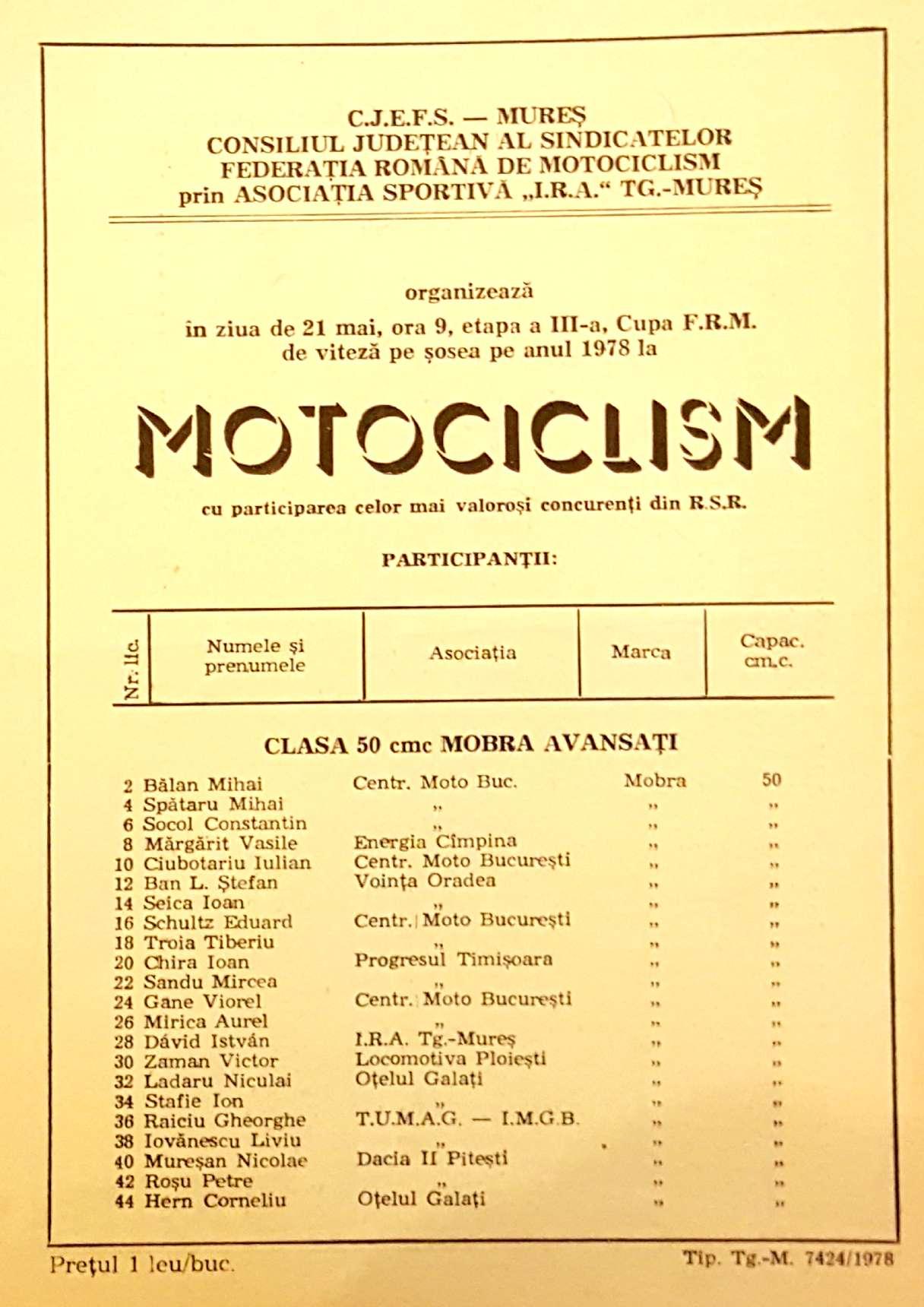 primele curse cu Mobra