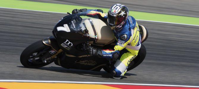 Loris Capirossi a testat pentru Dorna motocicleta electrică Saroléa SP7