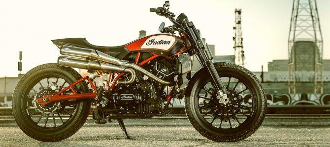 Scout FTR1200 Custom, modelul concept prezentat de Indian la Milano