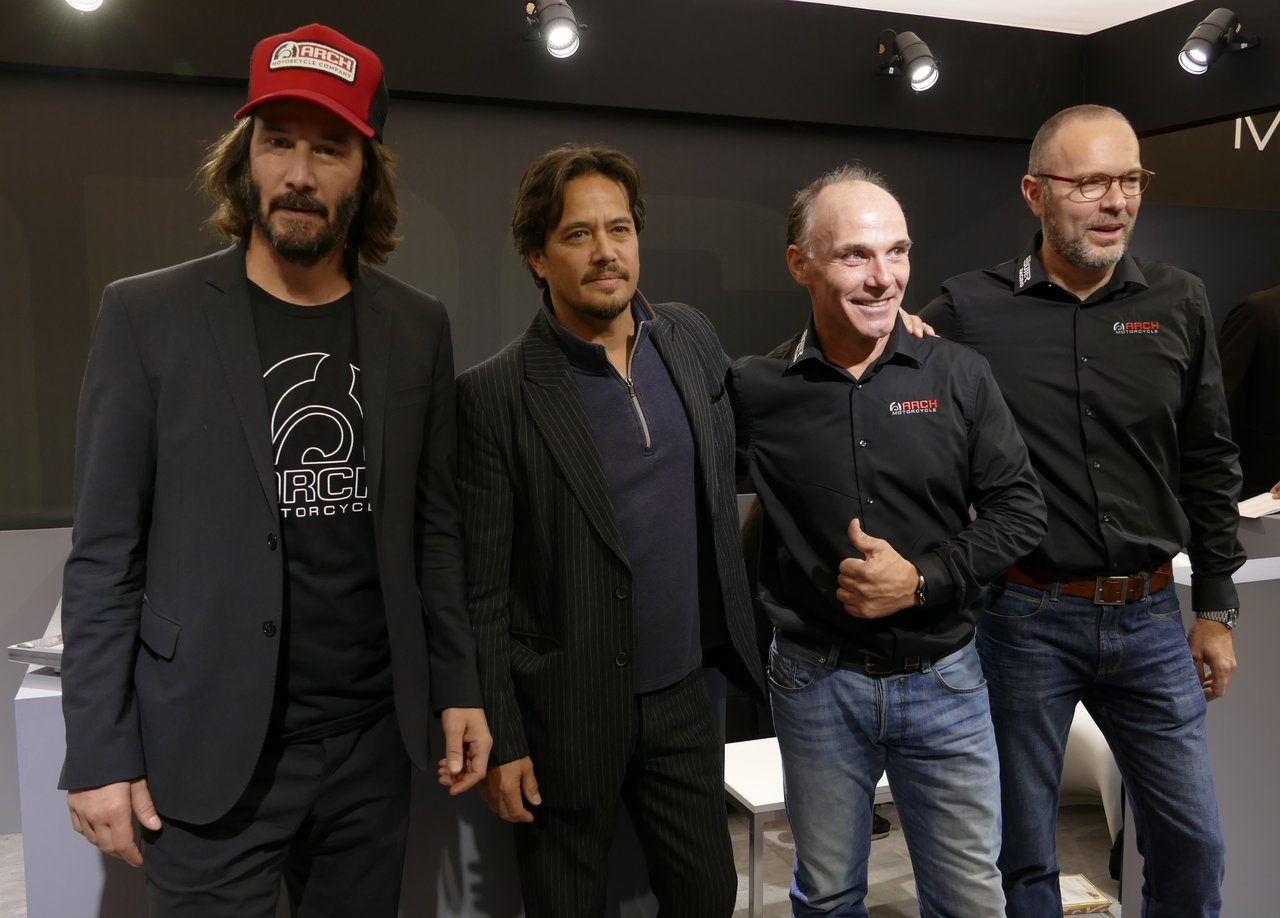 Keanu Reeves at EICMA 2017