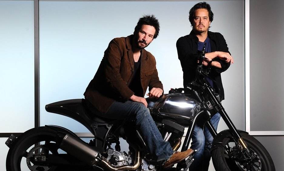 Keanu Reeves and Gard Hollinger