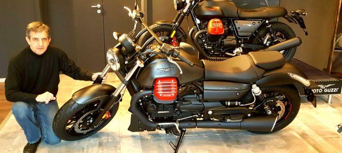 Se apropie inaugurarea noului magazin Piaggio – a ajuns și Moto Guzzi Audace