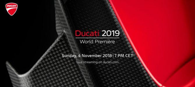 Ducati World Première, lansarea gamei Ducati 2019, va fi transmisă în direct