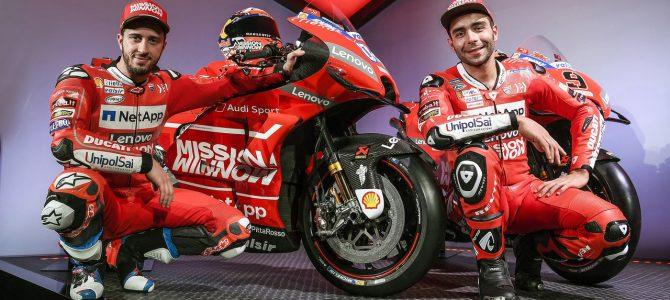 Ducati Desmosedici GP19 și echipa oficială Mission Winnow Ducati prezentate în Elveția