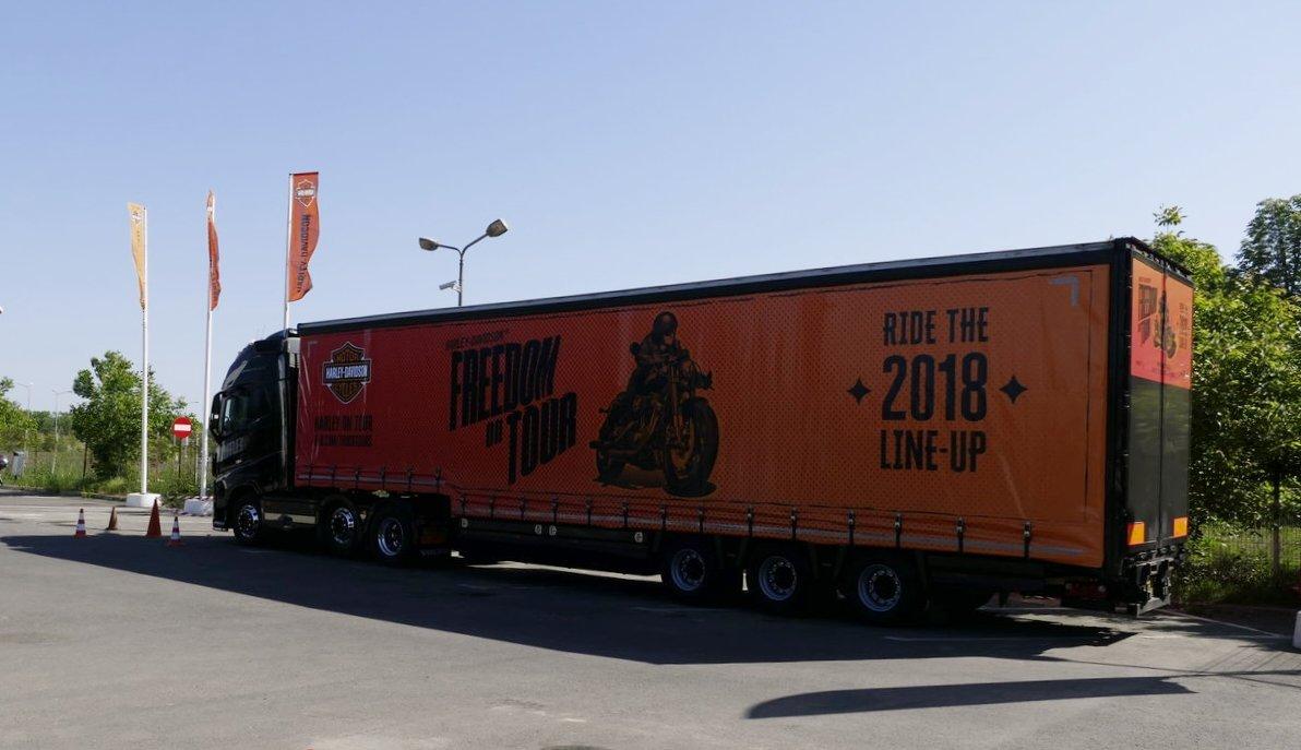 Vine camionul Harley-Davidson