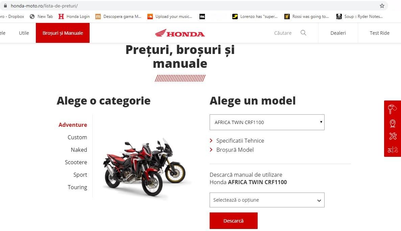 Noul website Honda