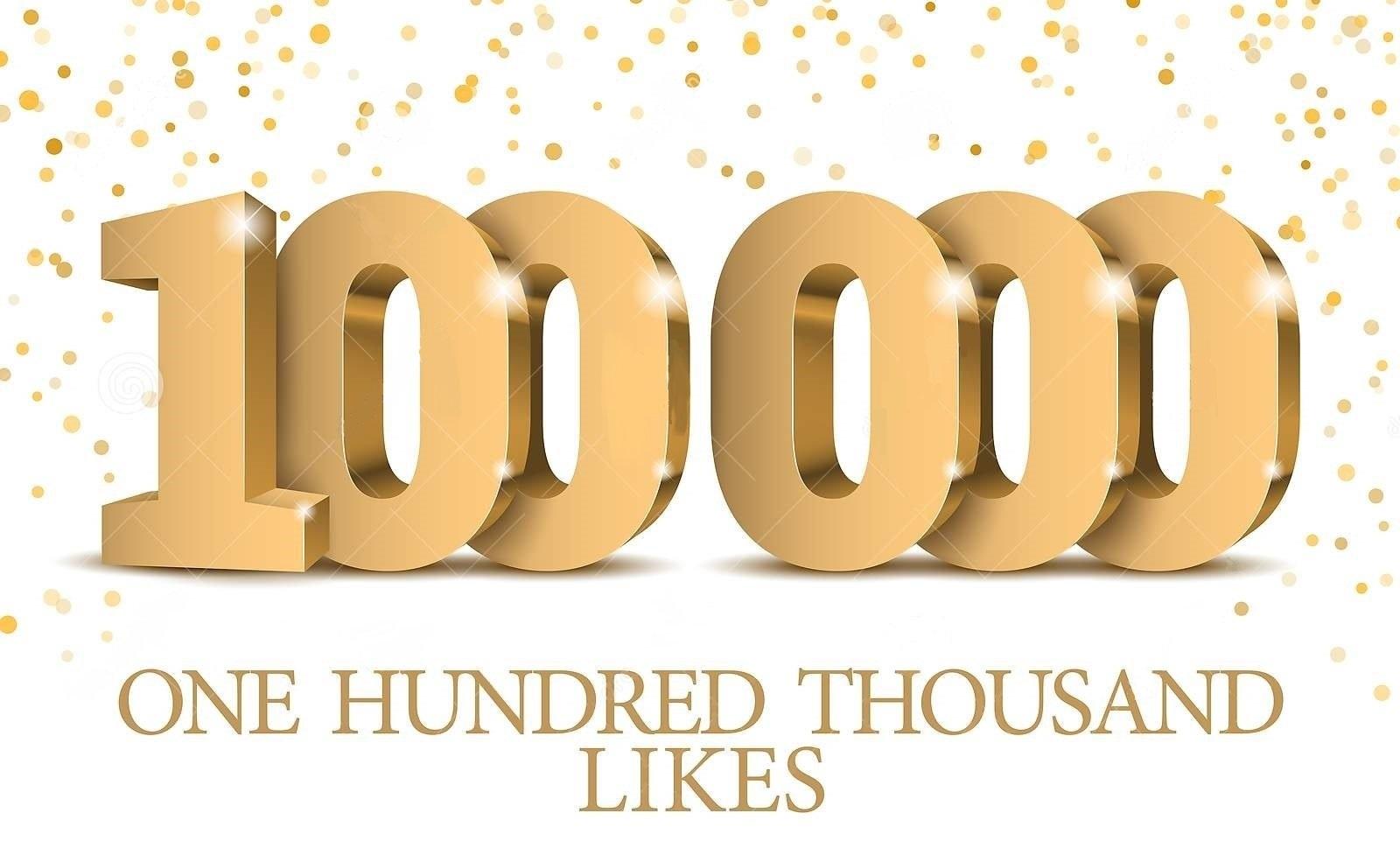 100000 pe Facebook